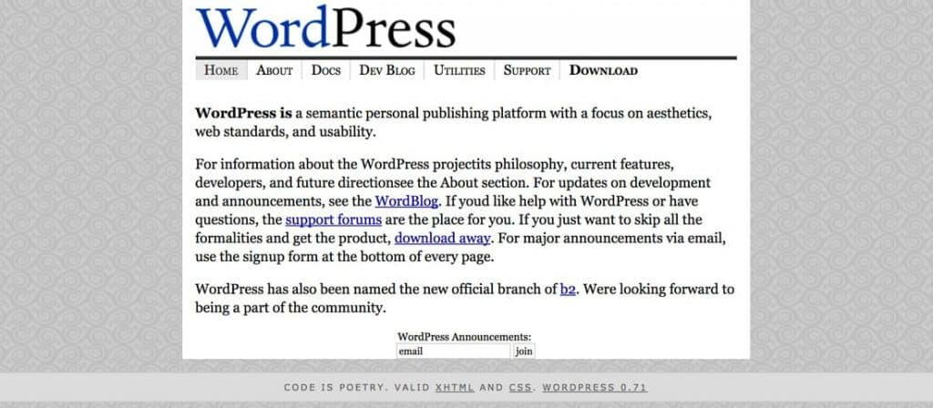 The First WordPress